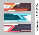 vector horizontal banner... | Shutterstock .eps vector #727330564