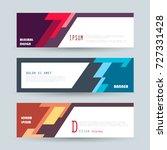 vector horizontal banner... | Shutterstock .eps vector #727331428