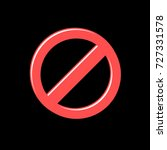 prohibited red vector sign in... | Shutterstock .eps vector #727331578