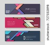 vector horizontal banner...   Shutterstock .eps vector #727332898
