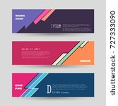 vector horizontal banner... | Shutterstock .eps vector #727333090