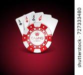 illustration on a casino theme ... | Shutterstock . vector #727333480