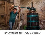 winemaker farmer working on a... | Shutterstock . vector #727334080