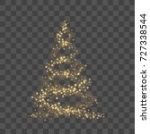christmas tree on transparent... | Shutterstock .eps vector #727338544