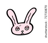 pink rabbit head cartoon | Shutterstock .eps vector #72733870