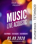live music acoustic poster... | Shutterstock .eps vector #727340620