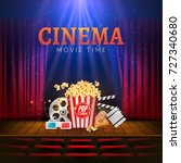 movie cinema premiere poster... | Shutterstock .eps vector #727340680