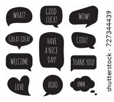 speech bubbles with different... | Shutterstock .eps vector #727344439