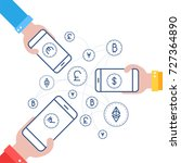 fin tech  financial technology  ... | Shutterstock .eps vector #727364890