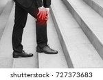 business man with knee pain ... | Shutterstock . vector #727373683