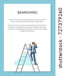 searching poster with man... | Shutterstock .eps vector #727379260