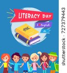 literacy day bright colorful... | Shutterstock .eps vector #727379443