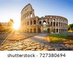 colosseum at sunrise  rome ... | Shutterstock . vector #727380694