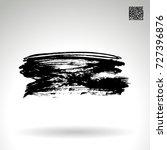 black brush stroke and texture. ... | Shutterstock .eps vector #727396876