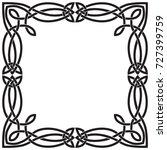 a square celtic frame. black... | Shutterstock .eps vector #727399759
