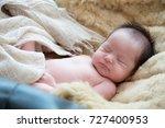 little cute newborn baby is... | Shutterstock . vector #727400953