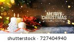 candels with christmas...   Shutterstock . vector #727404940