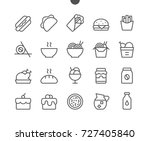 food ui pixel perfect well... | Shutterstock .eps vector #727405840