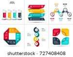 abstract infographics number... | Shutterstock .eps vector #727408408