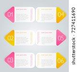 infographic banner template.... | Shutterstock .eps vector #727411690