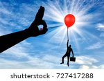 silhouette of a man in the air... | Shutterstock . vector #727417288
