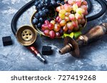 smoked shisha with tobacco with ... | Shutterstock . vector #727419268
