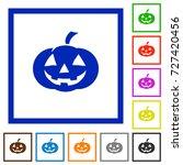 halloween pumpkin flat color... | Shutterstock .eps vector #727420456