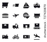 16 vector icon set   delivery ... | Shutterstock .eps vector #727420870