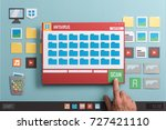 antivirus protection software... | Shutterstock . vector #727421110