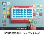 antivirus protection software... | Shutterstock . vector #727421110