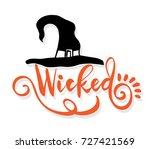Hat And Wicked Lettering Vecto...