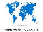 blue world map | Shutterstock .eps vector #727422418