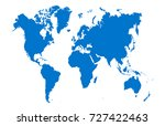 blue world map | Shutterstock .eps vector #727422463