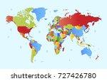 vector world map | Shutterstock .eps vector #727426780