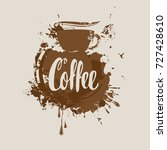 vector banner with cup of hot... | Shutterstock .eps vector #727428610