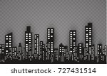 the silhouette of the city in a ... | Shutterstock .eps vector #727431514