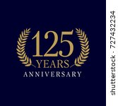 template emblem 125th years old ... | Shutterstock .eps vector #727432234