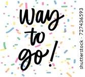 way to go | Shutterstock .eps vector #727436593
