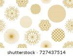 golden christmas background... | Shutterstock .eps vector #727437514