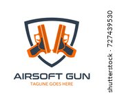 unique air soft gun logo | Shutterstock .eps vector #727439530