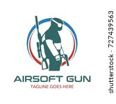 unique air soft gun logo | Shutterstock .eps vector #727439563