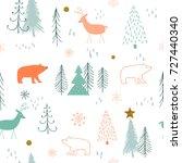 winter background. seamless... | Shutterstock .eps vector #727440340