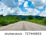 the asphalt road is the... | Shutterstock . vector #727440853