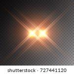 projector light effect. yellow... | Shutterstock .eps vector #727441120