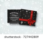 merry christmas design. opened... | Shutterstock .eps vector #727442809