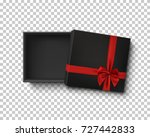 opened black empty gift box... | Shutterstock .eps vector #727442833