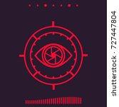 machine vision vector... | Shutterstock .eps vector #727447804
