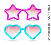 glasses style disco glasses in... | Shutterstock .eps vector #727447816
