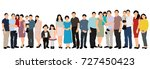 silhouette people  crowd  white ... | Shutterstock . vector #727450423