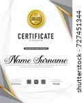 certificate template luxury and ... | Shutterstock .eps vector #727451344